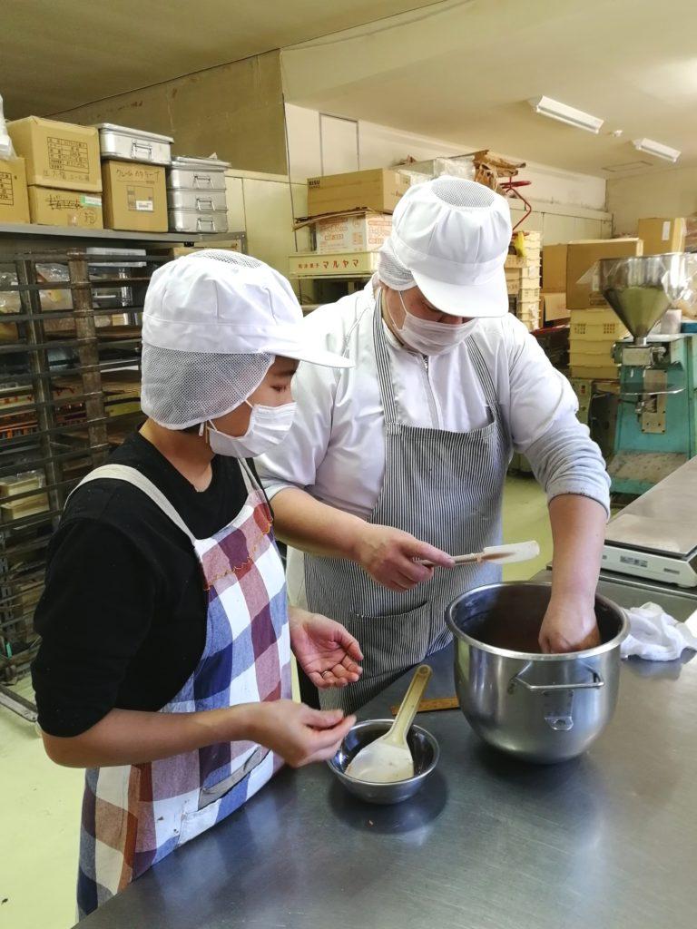 お菓子工場での試作